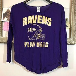 6f65dbda6 PINK Victoria s Secret Tops - Baltimore Ravens NFL Pink long sleeve T-shirt